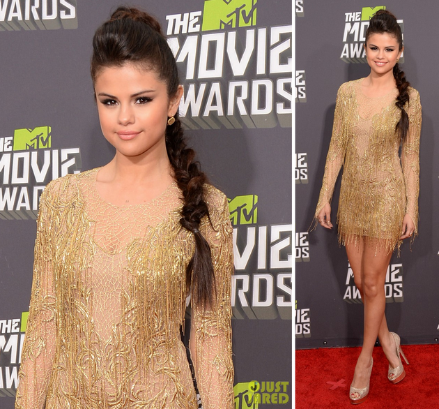 Visual da Selena Gomez no MTV Movie Awards 2013