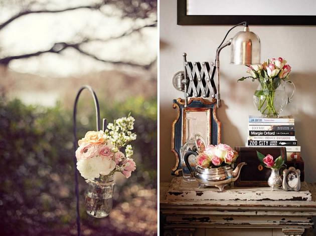 Flores em vasos fofos